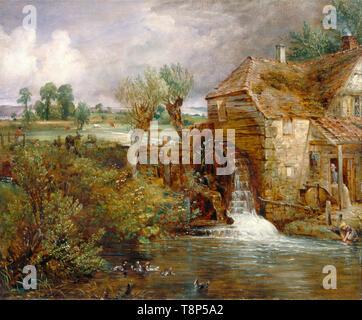 John Constable, Parham Mill, Gillingham, painting, c. 1826 - Stock Image