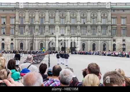 Change of Guards Parade Stockholm Sweden - Stock Image