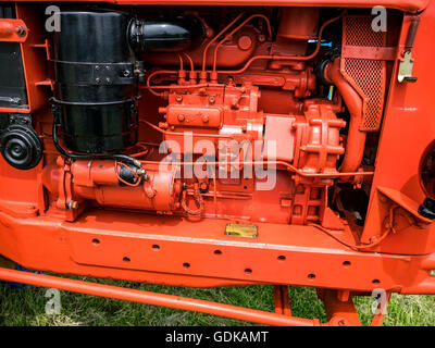 Nuffield 10/60 Tractor engine, at the Wrotham Classic Steam and Transport Rally 2016 - Stock Image