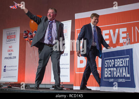 'Leave Means Leave' rally held at Queen Elizabeth II Conference Centre  Featuring: Sammy Wilson MP DUP, Richard Tice Where: London, United Kingdom When: 14 Dec 2018 Credit: Wheatley/WENN - Stock Image