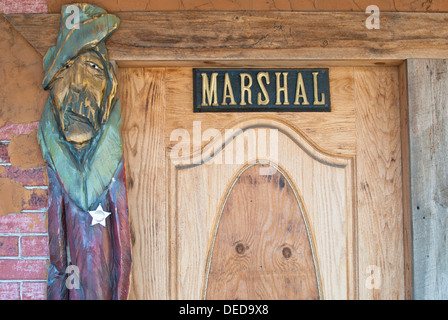 Marshal's office roadside attraction in Davenport, Washington State, USA. - Stock Image