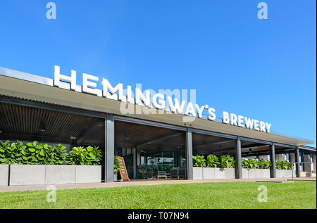 Hemingway's Brewery is a Heritage listed converted building on Cairns Wharf, Far North Queensland, FNQ, QLD, Australia - Stock Image