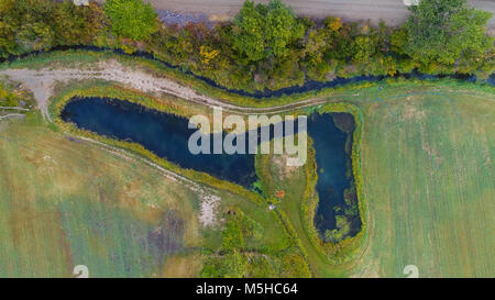 Aerial drone photography - Stock Image