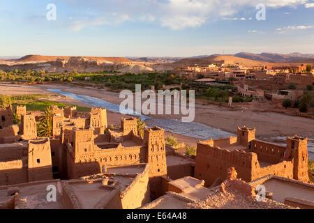 Morocco, High Atlas Mountains, Ait Ben Haddou Ksar classified as World heritage by UNESCO - Stock Image