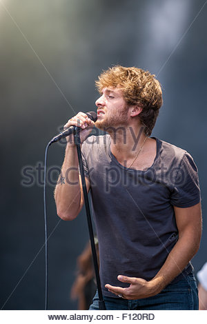 Paolo Nutini performing live - Stock Image