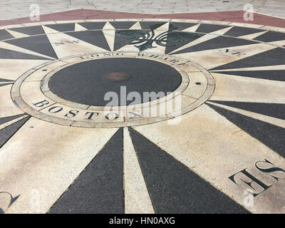 Compass Boston Harbor - Stock Image
