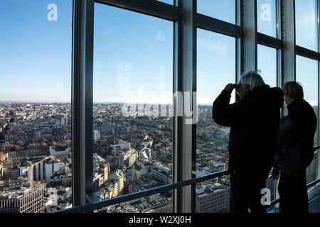 Italy, Lombardy, Milan, Pirelli skyscraper, the Belvedere Enzo Jannacci - Stock Image