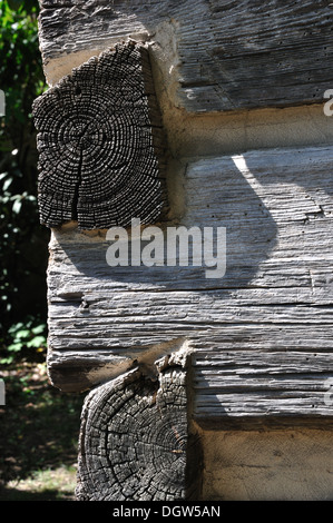 Log cabin corner - Stock Image