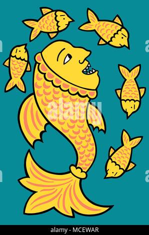 It's a fish eat fish world - Stock Image