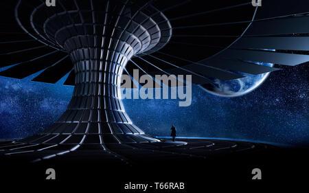 Futuristic space - Stock Image