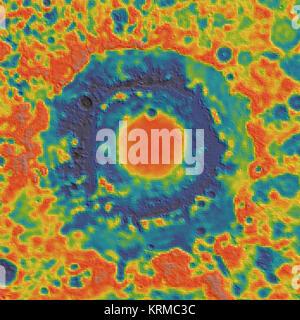 Orientale basin GRAIL gravity - Stock Image