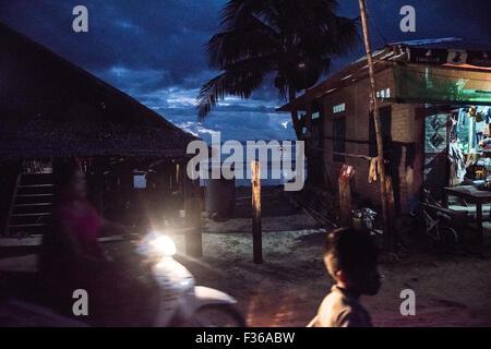 Street scene, San Hlan, Myanmar - Stock Image