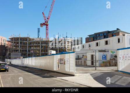 Construction site in the city centre. - Stock Image