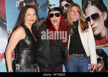 New York, USA. 13 March, 2009. Eden Wexler, Patricia Field, Candace Keough at the launch of Carrera Vintage Sunglasses at Angel Orensanz Foundation. Credit: Steve Mack/Alamy - Stock Image