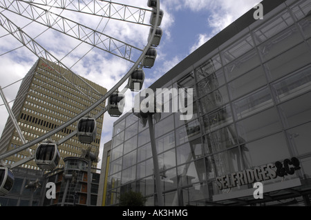 arndale big wheel city centre manchester uk england building architecture - Stock Image