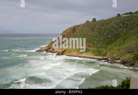 Wilderness, Western Cape, South Africa. Showing the Oueteniqua Choo Tjoe Railway Line and Tunnel. - Stock Image