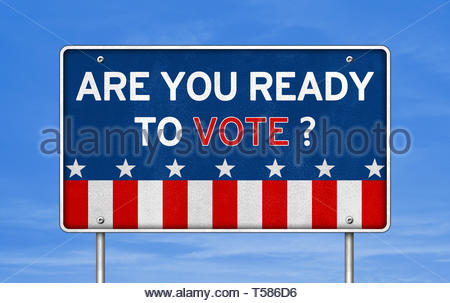 Are you ready to vote - Stock Image