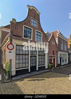 Row of buildings in Alkmaar, Netherlands, Holland - Stock Image