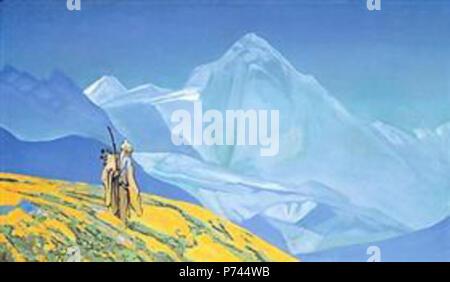 Work by Nicholas Roerich . before 1947 9 Charaka-1932.jpg!PinterestLarge - Stock Image