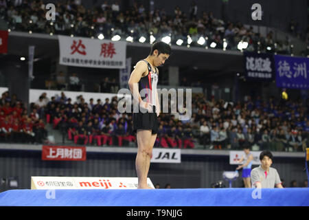 Musashino Forest Sport Plaza, Tokyo, Japan. 19th May, 2019. Kenzo Shirai, MAY 19, 2019 - Artistic Gymnastics : The 58th NHK Cup Men's Individual All-Around Floor Exercise at Musashino Forest Sport Plaza, Tokyo, Japan. Credit: YUTAKA/AFLO SPORT/Alamy Live News - Stock Image
