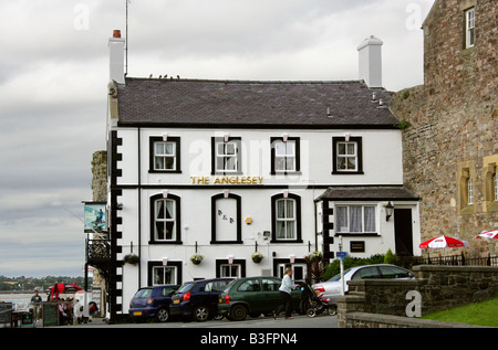 The Anglesey Inn, Caernarvon, North Wales - Stock Image
