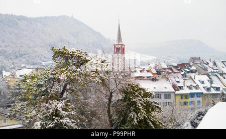 Winter in Liestal - Stock Image