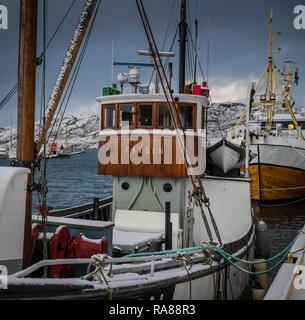fishing fleet docked at Bodo, Norway - Stock Image