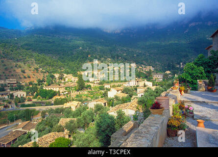 Overview. Deia, Mallorca, Balearic Islands, Spain. - Stock Image