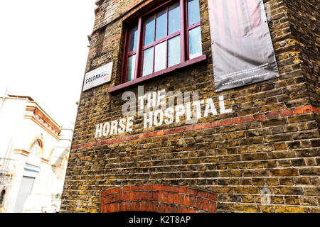 The Horse Hospital London, Once home to sick and injured horses, The Horse Hospital is now an avant garde arts venue located in Bloomsbury, London - Stock Image