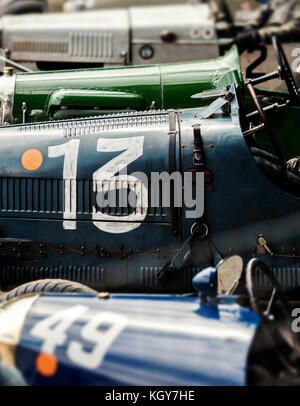 number 13 vintage car - Stock Image
