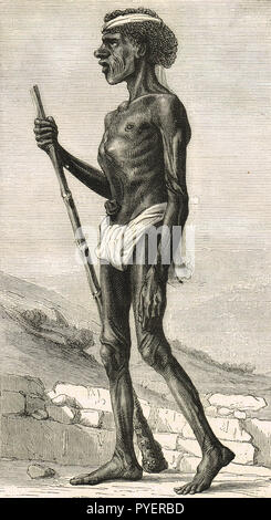 The Djangal, a native of the Surguja, Chhattisgarh, India.  (Possibly Dhangar  see additional info) - Stock Image