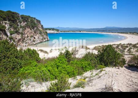 die Bucht Voidokilia am Peloponnes in Griechenland - Stock Image