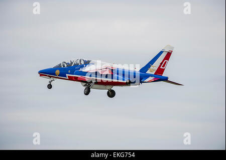 French Air Force - Patrouille de France display team RIAT 2014 - Stock Image
