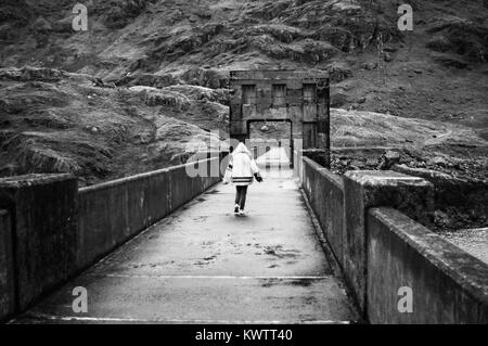 Loch Sloy Dam, Scotland, September 30th 2012.  Loch Sloy Dam is situated in Loch Lomond National Park - Stock Image