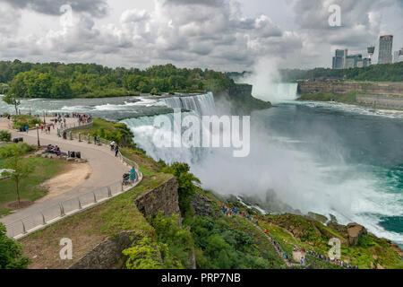 Niagara Falls, American & Canadian Falls - Stock Image