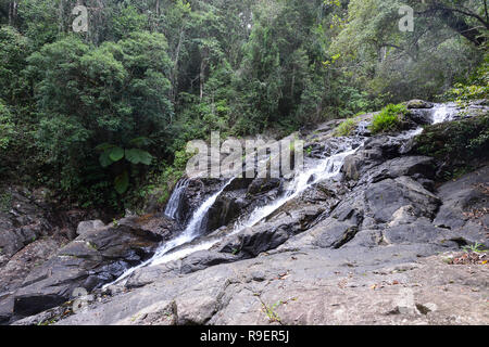 Dinner Falls are the upper part of the Barron River, Hypipamee National Park, Atherton Tableland,  Far North Queensland, FNQ, QLD, Australia - Stock Image