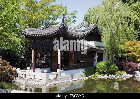Lan Su Chinese Garden in Portland, Oregon, USA. - Stock Image