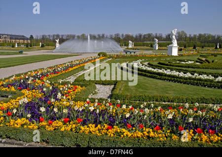 Germany, Lower Saxony, Hannover, Herrenhausen, historical baroque arrangement whose beginnings go back till 1666 - Stock Image