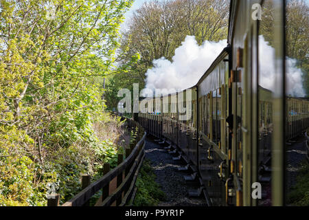 The Vale of Rheidol Railway (Rheilffordd Cwm Rheidol), Aberystwyth, Wales. Locomotive No 8 - Llywelwyn, built in 1923 at Swindon - Stock Image