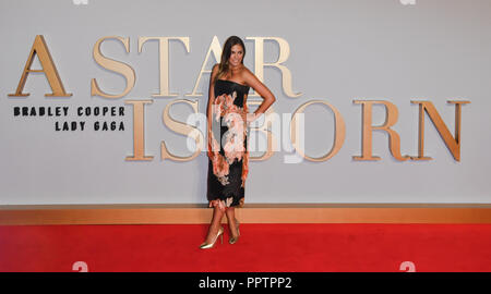 London, UK. 27th September 2018. Amber Le Bon attend A Star Is Born UK Premiere at Vue Cinemas, Leicester Square, London, UK 27 September 2018. Credit: Picture Capital/Alamy Live News - Stock Image