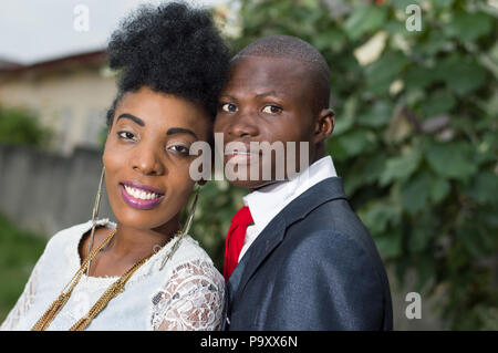 Portrait of a happy couple embracing - Stock Image
