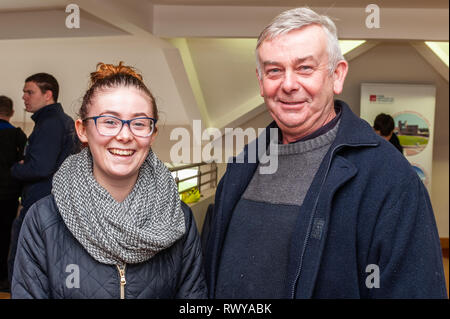 Clonakilty, West Cork, Ireland. 8th March, 2019. Attending the Darrara Agricultural College Open Day were Rita and Donal Dineen from Carrigaline. Credit: Andy Gibson/Alamy Live News. - Stock Image