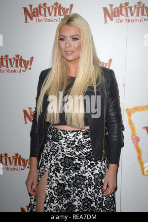 Celebrities attend 'Nativity! The Musical' Press Night held at the Hammersmith Apollo theatre  Featuring: Nicola McLean Where: London, United Kingdom When: 20 Dec 2018 Credit: WENN.com - Stock Image