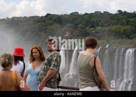 Iguacu tourists - Stock Image