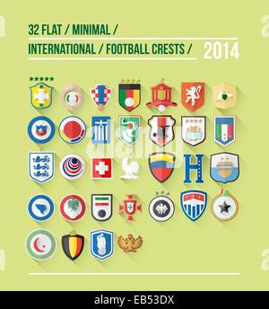 International football crest vector for 2014 - Stock Image