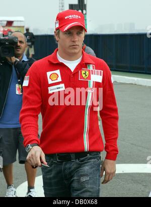 Finnish Formula One pilot Kimi Raikkonen of Ferrari arrives at the Interlagos Circuit in Sao Paulo, Brazil, 18 October - Stock Image