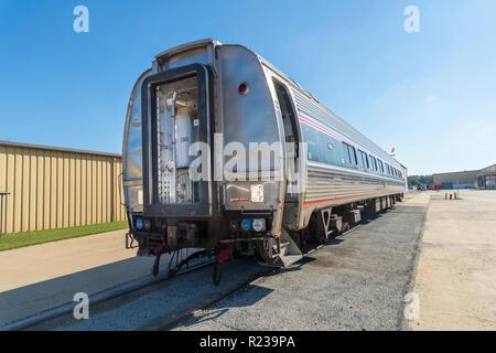 Exterior Of Amtrak Rail Car Train, USA - Stock Image