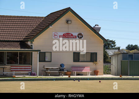 The main club house at Club Milthorpe, AKA The Milthorpe Lawn Bowls Club in central western New South Wales, Australia - Stock Image