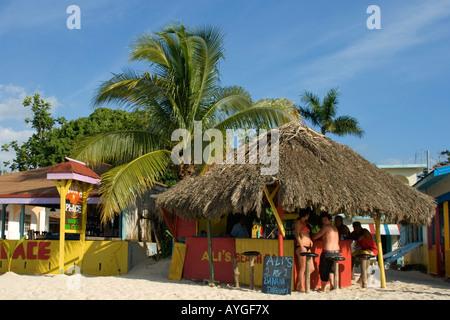 Jamaica Negril beach bar - Stock Image