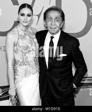 New York, NY - June 03, 2019: Olivia Palermo and Valentino Garavani attend 2019 CFDA Fashion Awards at Brooklyn Museum - Stock Image